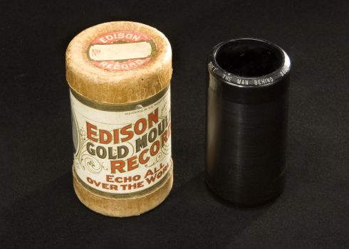 The Man Behind / Collins and Harlan. Edison Gold-Moulded: 8650. 1904.