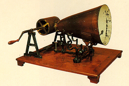 An 1859 Koenig phonautograph. (Courtesy of the Smithsonian Institution.)